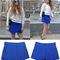3011 women asymmetric tiered culottes shorts with invisible zipper black white o | ebay