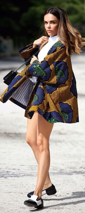 coat african print burberry