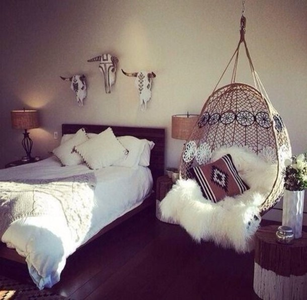boho decor boho tribal pattern wall decor bedroom rug sheepskin bedding home decor rustic driftwood little cottage cottage shabby chic house gift ideas driftwoodcottage giftideas holiday gift christmas home accessory white gypsy hanging chair chair love find exact