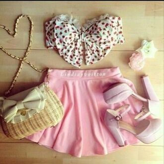 crop tops lace bow bandeau bandeau bows lace top