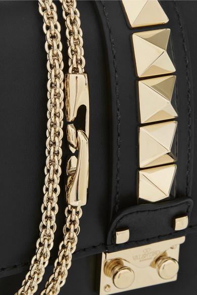 Valentino | Glam Lock medium leather shoulder bag | NET-A-PORTER.COM