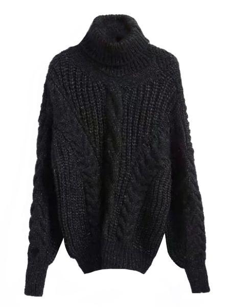 'Benda' Bishop Sleeve Turtleneck Sweater (5 Colors)