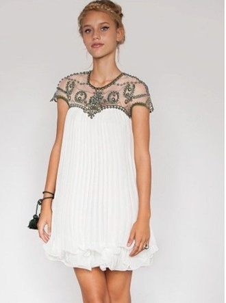 chiffon embellished greek goddess dress holiday dress