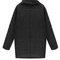 Jet black oversized cowl-neck sweater