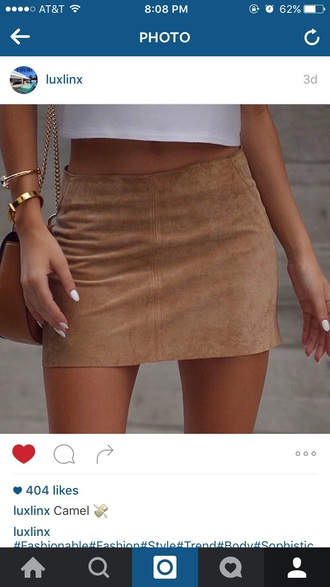 skirt camel mini skirt bodycon
