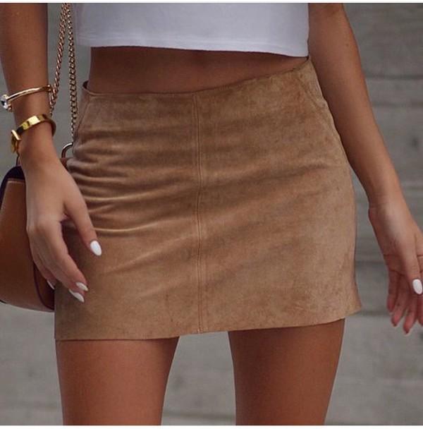 Vintage Birkin suede skirt by THRIFT STORE