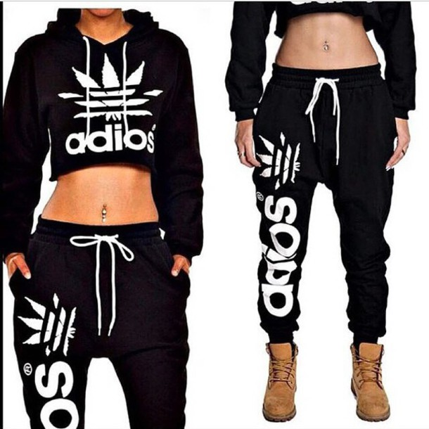 Jumpsuit Sweater Adidas Adidas Pants Adidas Crop Top