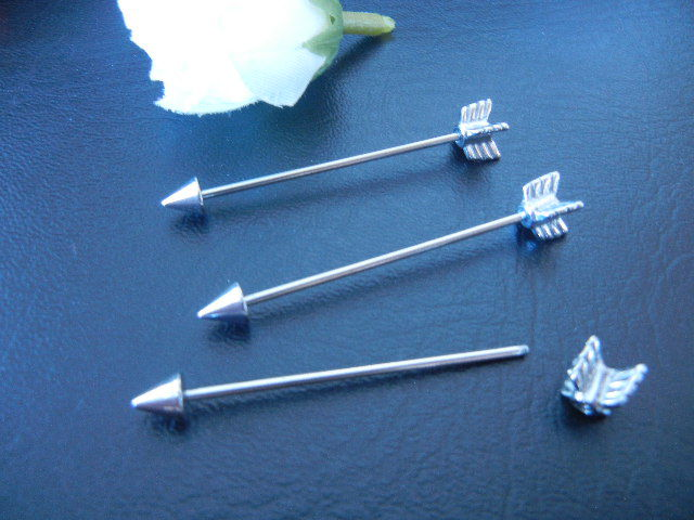 1pcs 16g 1 2mm Arrow Ear Industrial Barbell Ear Scaffold Bar Barbells 35mm | eBay