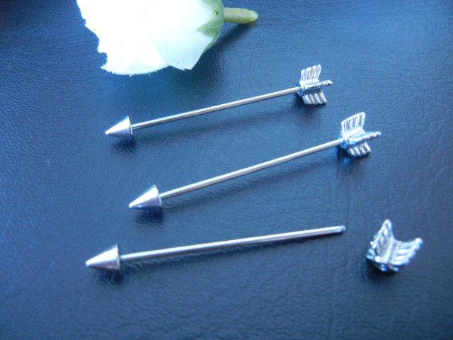 1pcs 16g 1 2mm Arrow Ear Industrial Barbell Ear Scaffold Bar Barbells 35mm | eBay