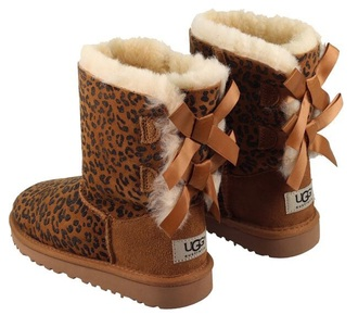 shoes ugg boots baileybows lepoard print