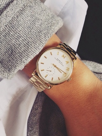 jewels gold watch marc jacobs watch watch marc by marc jacobs marc jacobs gold jacket sweater marc jabocs