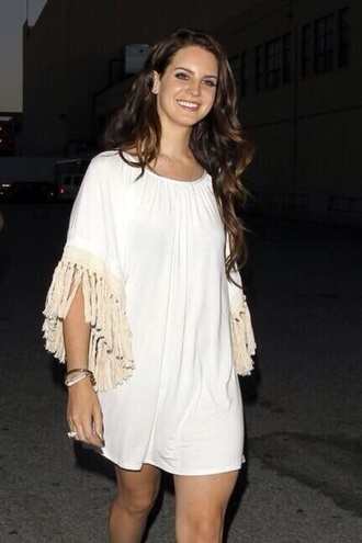 lana del rey dress white boho