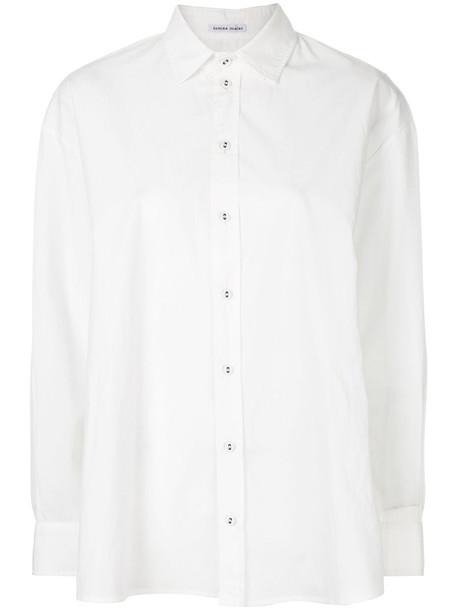 Tomas Maier shirt women white cotton top