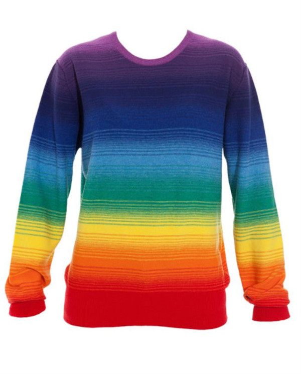 Lux Urban Outfitters Rainbow Striped Sweater Womens Size S Ebay