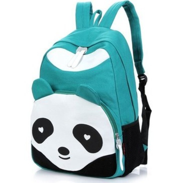 bag fashion backpack panda petrol