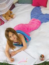 home accessory,flannel mermaid blanket