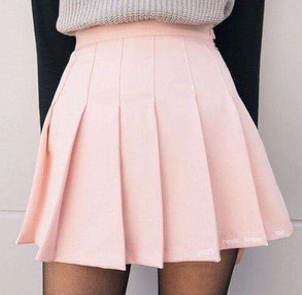 skirt pastel pink