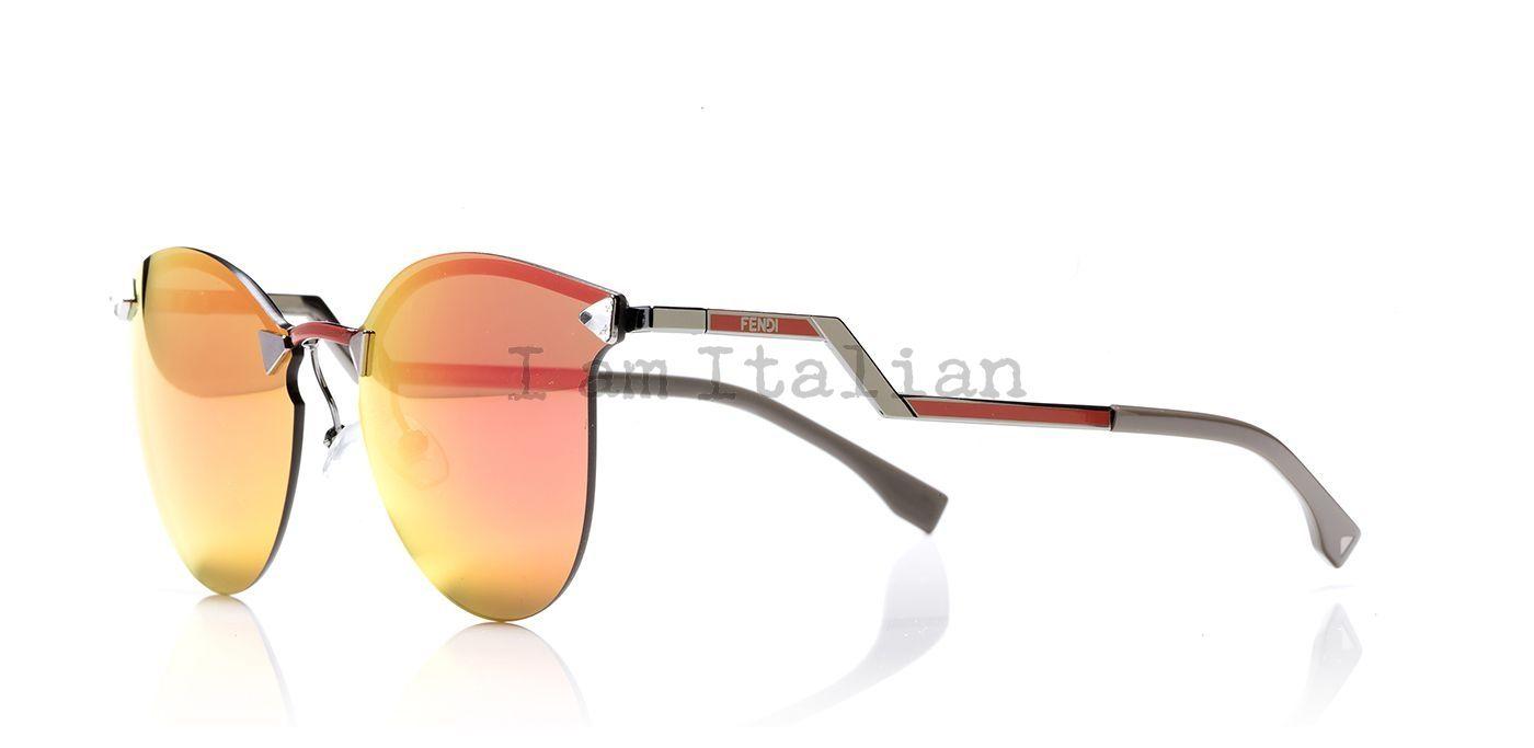 Fendi mirror sunglasses orange - IamItalian