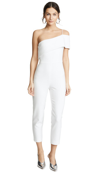 jumpsuit cropped jumpsuit cropped white