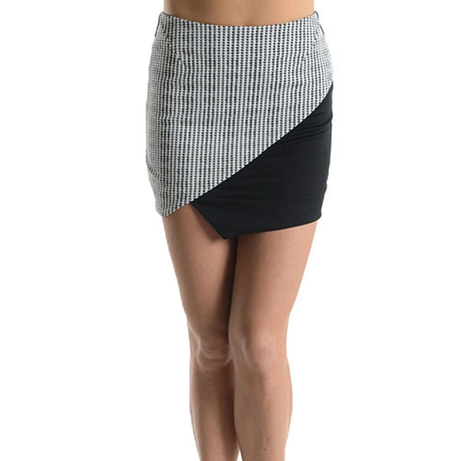 Asymmetric Jacquard Skirt | Emprada