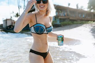 jessica luxe blogger sunglasses swimwear top bikini swimwear two piece blue bikini black bikini summer outfits