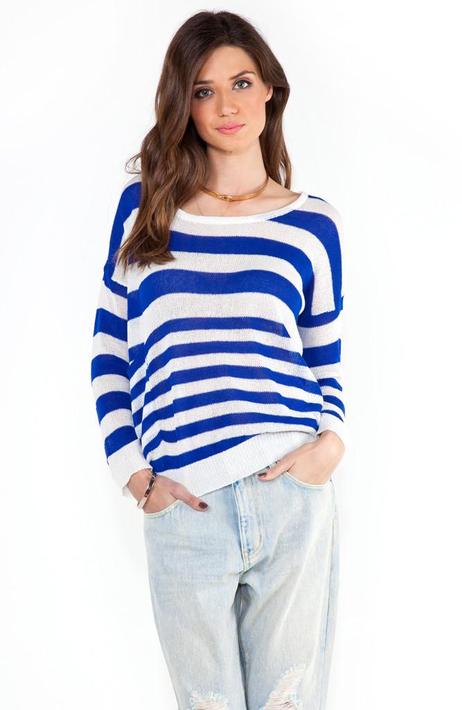 Loose stripe knit jumper ? market hq
