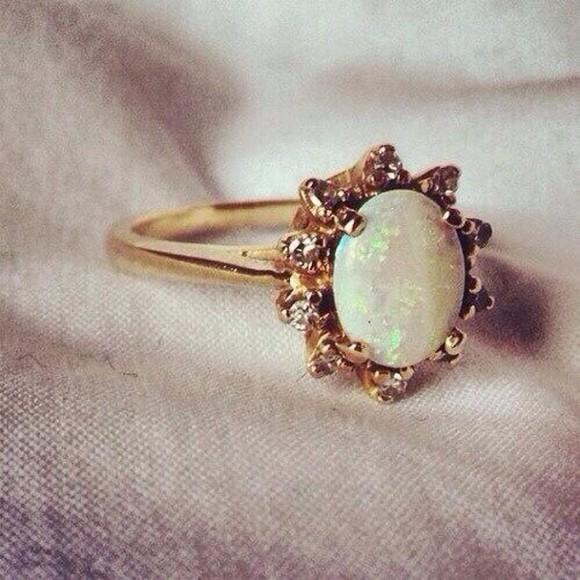 jewels gold ring engagement ring opal gold rings wedding ring