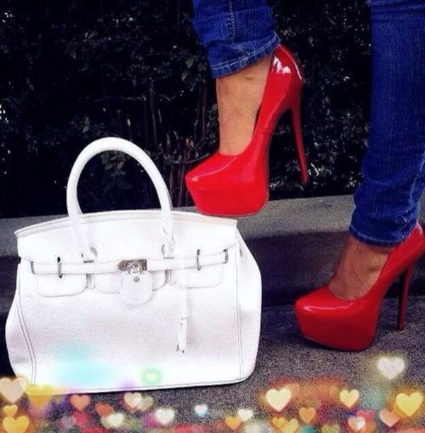 bag high heels shoes