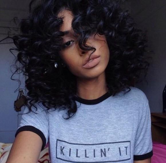 grey black grey t-shirt killin it