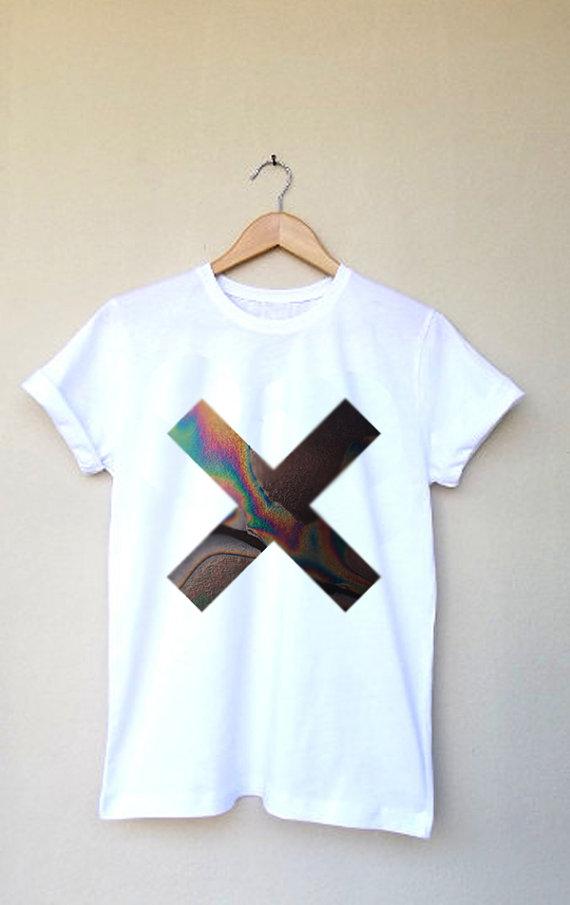 Rock xx design printed t shirt top custom white tee by deegamzach