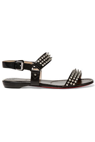 studded bike sandals leather sandals leather black shoes