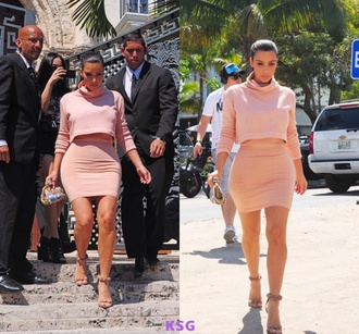 blouse kim kardashian crop too pencil skirt