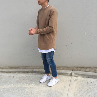 shirt clothes fashion boy sweater jeans shoes