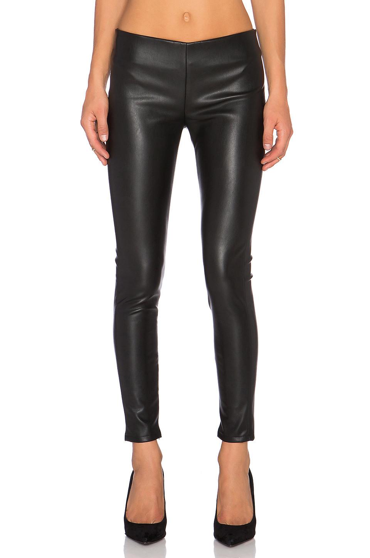 Velvet by Graham & Spencer Berdine Faux Leather Legging in black