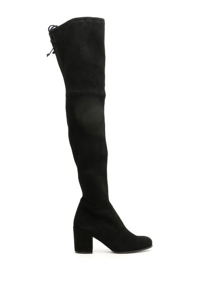 Stuart Weitzman Suede Tieland Boots in black