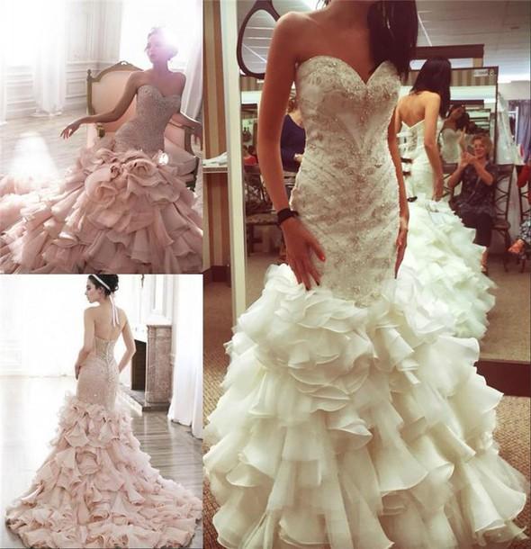 Mermaid Wedding Dresses with Purple