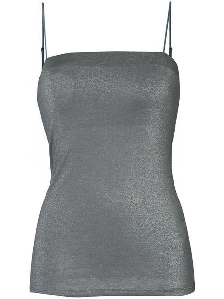 Estnation - cami top - women - Rayon/Nylon/Polyester - 38, Grey, Rayon/Nylon/Polyester