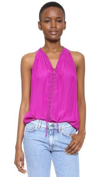 top sleeveless top sleeveless purple