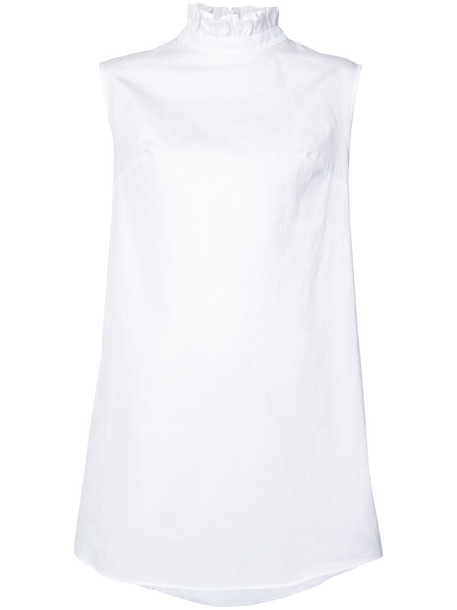 Cecilie Bahnsen blouse back women white cotton top