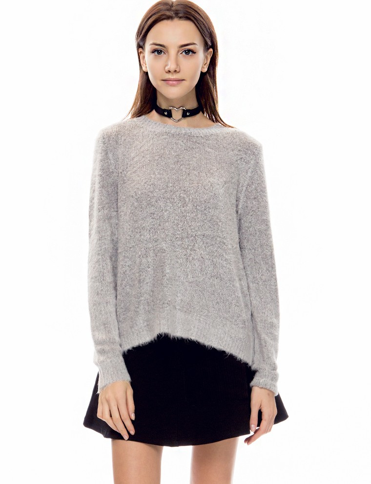 Grey fuzzy sweater