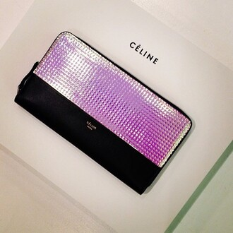 pink black white black and white nike bag studs purple purse celine clutch money tumblr studded purse pinky chanel holographic