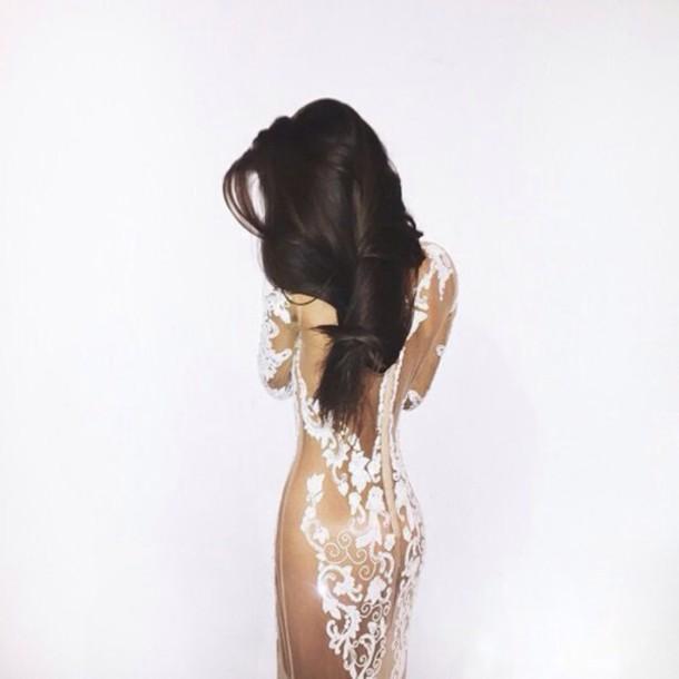 dress nude lace dress lace nude dress prom dress cream high heels cream dress white white tight dress