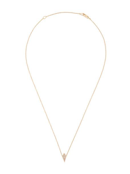Eva Fehren rose gold rose women pendant gold grey metallic jewels