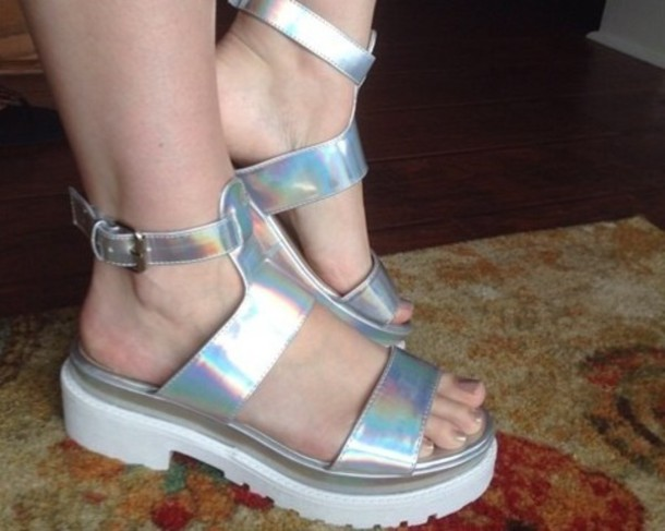 shoes hologram sneakers style hippie grunge shoes hipster