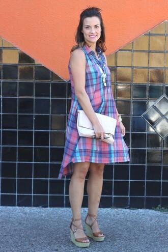 live more beautifully blogger shirt dress jewels bag make-up shoes sunglasses