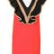 Msgm - high neck frilled dress - women - cotton/polyamide/polyester/spandex/elastane - 42, red, cotton/polyamide/polyester/spandex/elastane