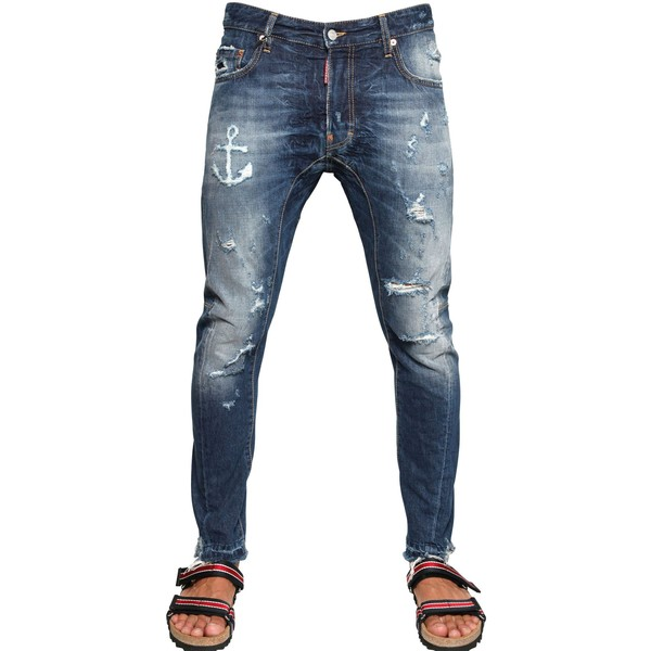 Dsquared 17cm Tidy Anchor Cropped Denim Jeans Dsquared2