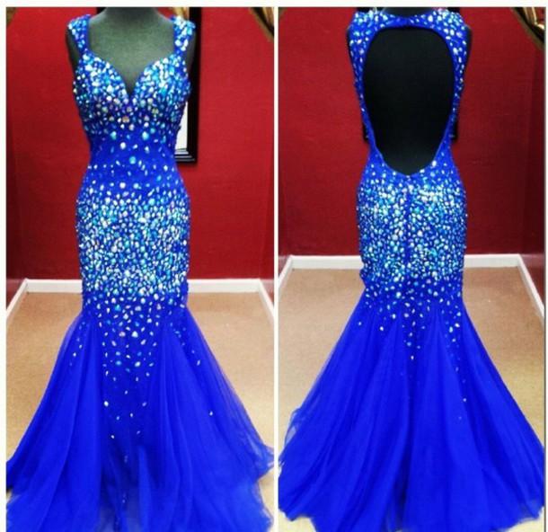 dress blue dress prom dress prom gown sequin dress sequin prom dress