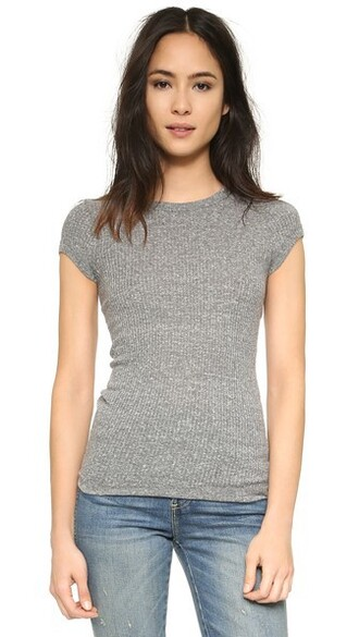grey heather grey top