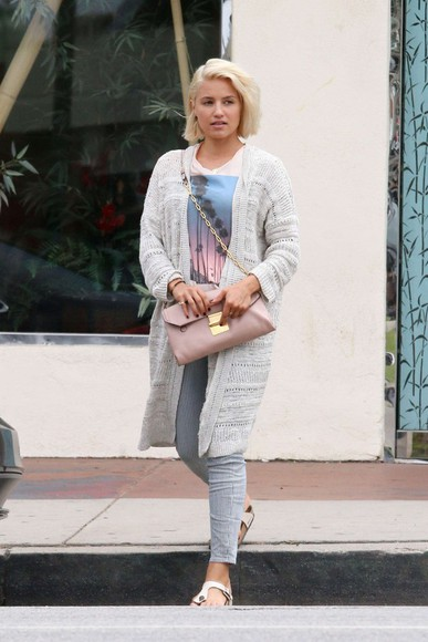 dianna agron top shoes pants slippers